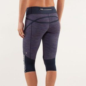 Lululemon purple run pace crop leggings size 2